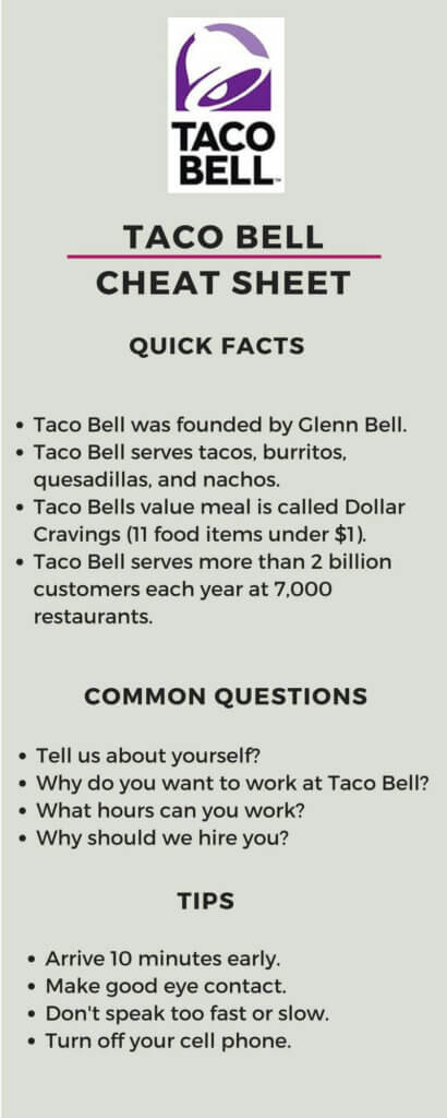 taco bell job interview