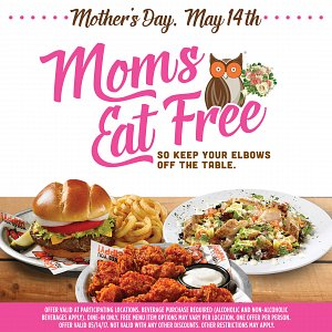 Hooters Mothers Day Meal