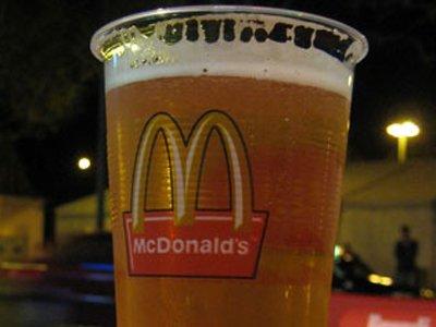 McDonald's serves beer Germany